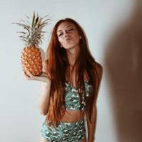 Palm Print and Pineapples